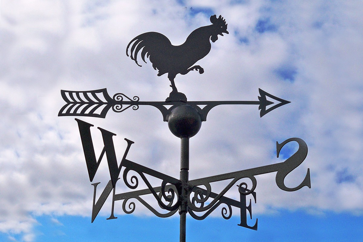 cockerel weathervane-sun56